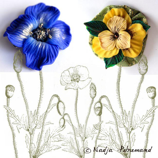 fleur en fimo