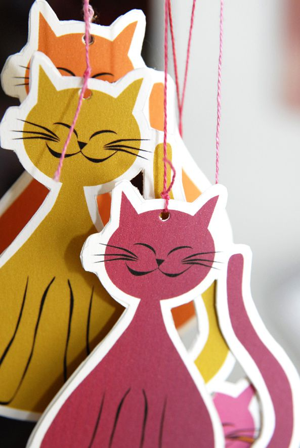 free printable cat's mobile image 3 gratuit mobile chat