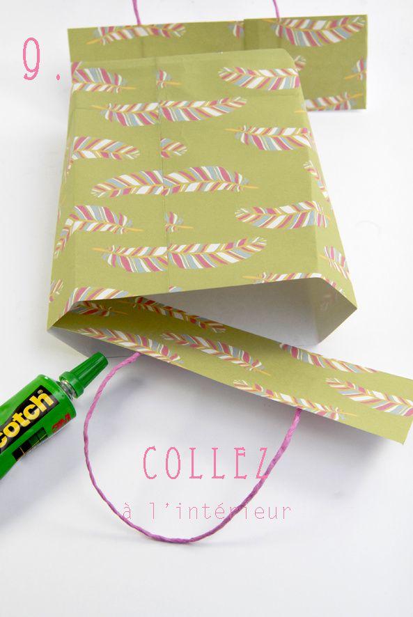 tuto comment faire des petits sacs en papier