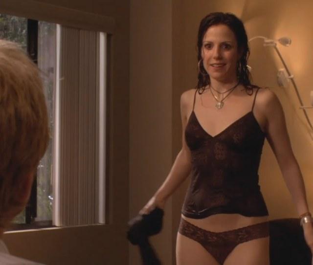 Mary Louise Parker Nude And Wet In Transparent Panties