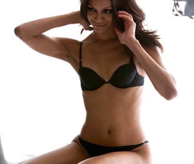 Zoe Saldana Nude Posing With Sexy Lingerie