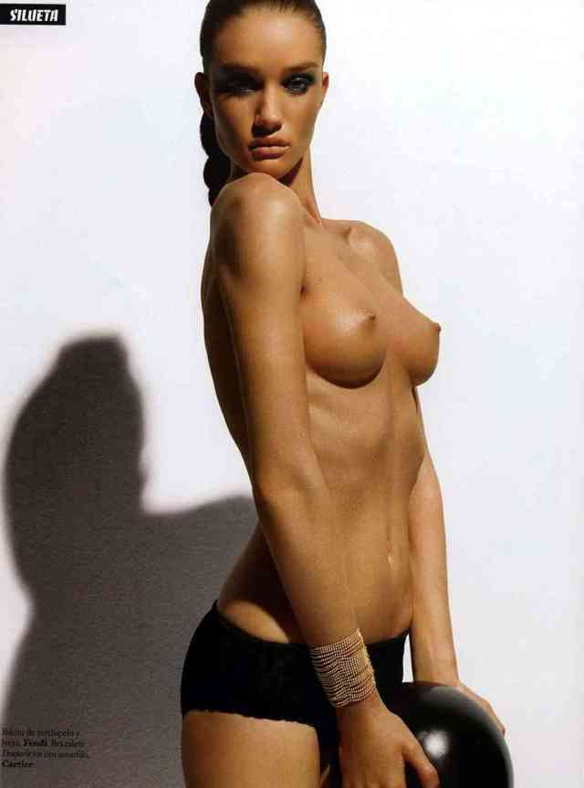 Rosie Huntington Whiteley Naked Sharp And Rounded Tits