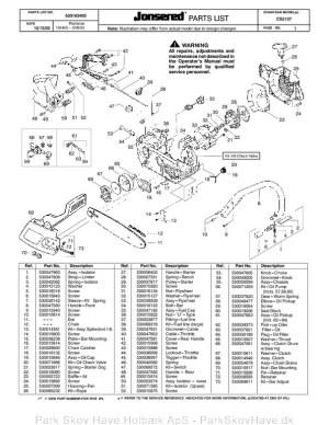 Reservedel CS2137, CS 2137, 200401, Chain saw