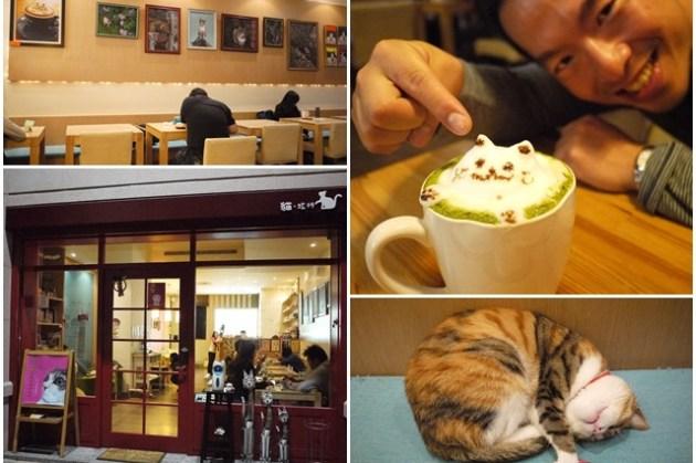 台中美食 貓旅行咖啡輕食館~效想許久的立體貓拉花
