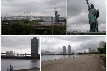 東京景點 台場海濱公園/自由女神像 想一探花火可惜…~阿一一日本東京自助之旅