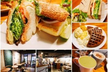 捷運忠孝新生站美食 沐樂咖啡-新生店 輕食/鬆餅下午茶~結合展覽的文青咖啡館