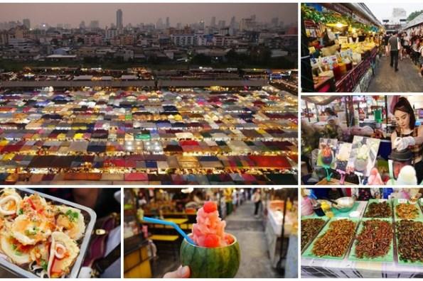 曼谷自由行 拉差達火車夜市 Ratchada Train Night Market 網紅正妹水果冰沙~帳棚組成的奇幻夜景