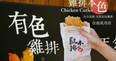 [台南]成大雞排推薦 育樂街銅板美食 彩色雞排IG打卡點 雞排本色成功店