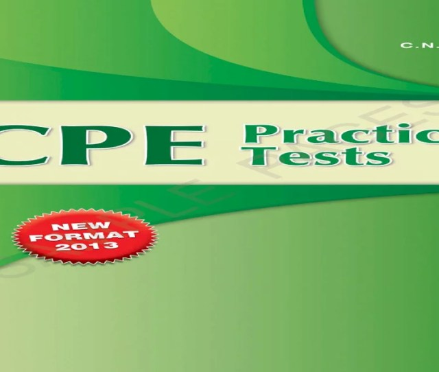Cpe Practice Tests St