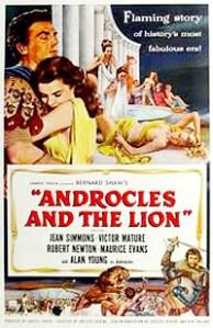 Cartel de la película Androcles y el león