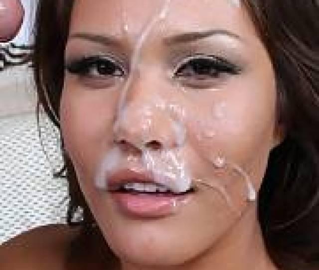Sweet Asian Bimbo After A Wet Sperm Facial