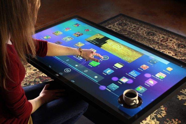 android coffee table ecran full hd 32