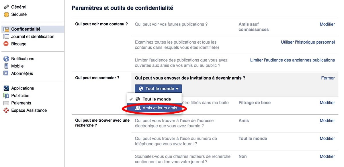 facebook etre invisible