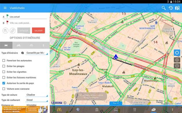 Via Michelin GPS sur Android