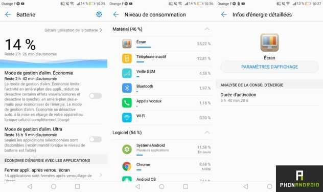 huawei p8 lite 2017 autonomie batterie
