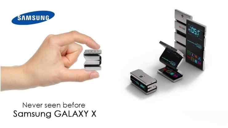 samsung galaxy x pliable site officiel lancement date sortie