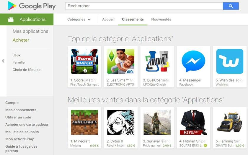 le google play et l app store arnaquent