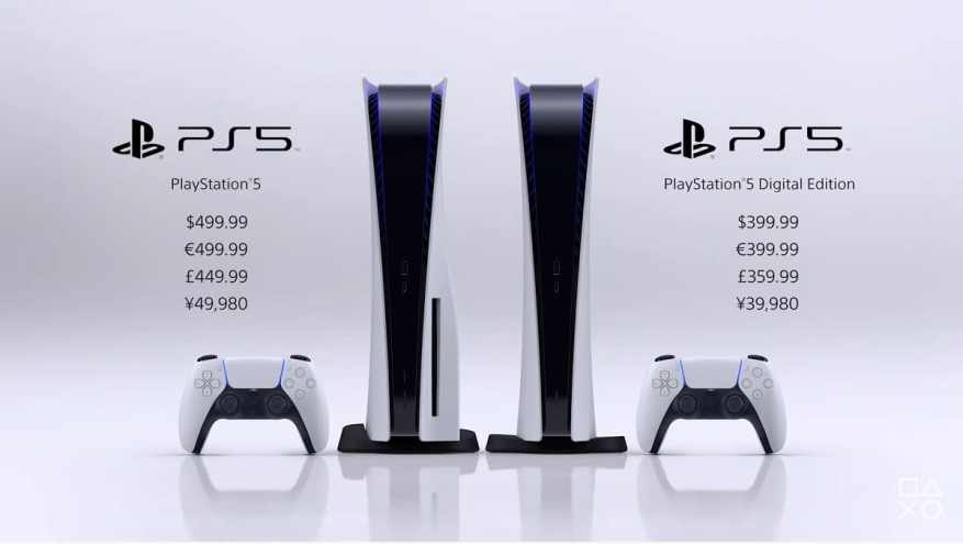 PS5 available on November 19, 2020 at 499 €
