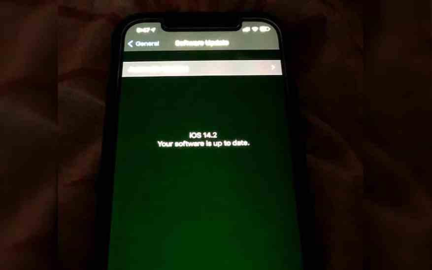 iphone 12 green screen bug