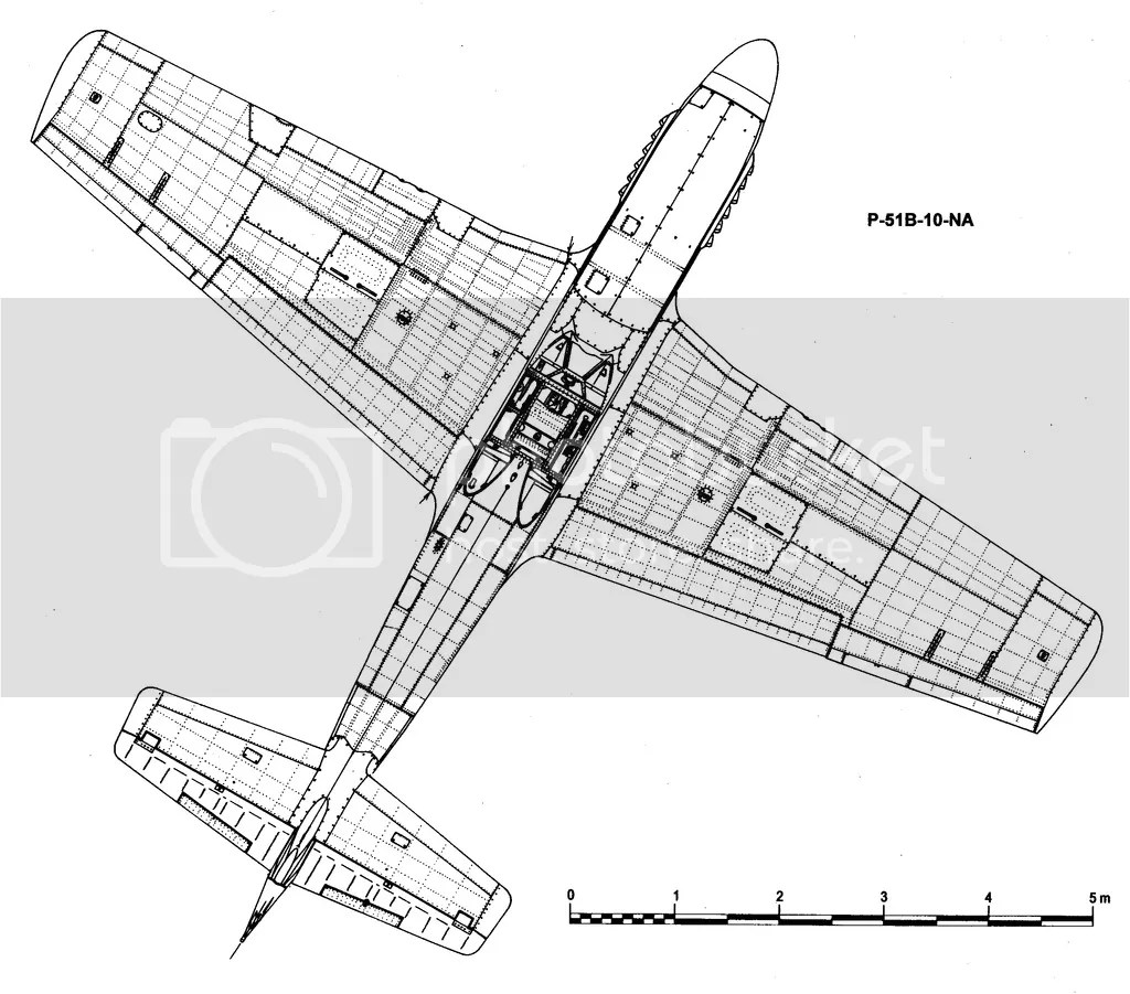 P 51b Scaled Diagram