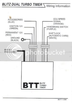 Blitz Turbo Timer diagram instructions for S2