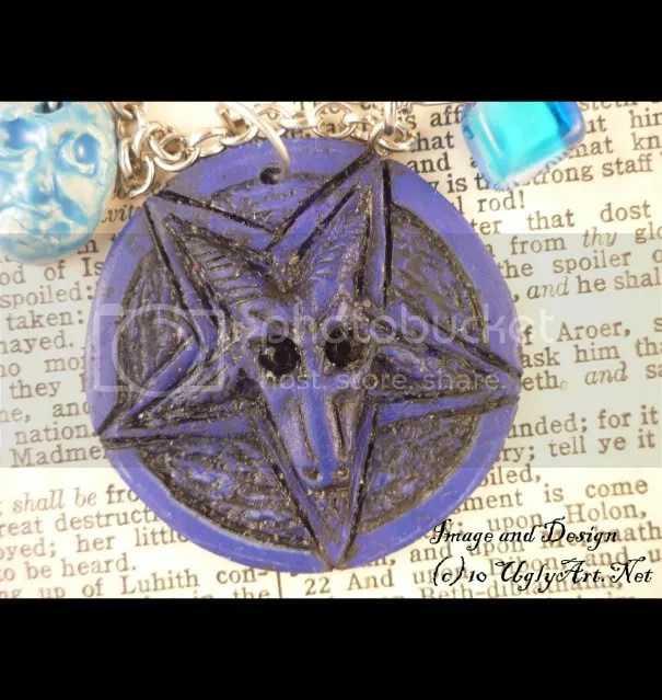 jewelry,necklace pendant,satanic satan scary,upside down cross,occult gothic horror,pentagram pentacle,satanism dark blue,left hand path,goat baphomet,strange sabbatic,weird talisman charm,inverted sigil,devil demon evil,witch witchhouse