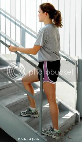 Stretching Calf Muscles, Meg Vitter