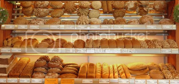 pics of fresh breads in a bakery in Vienna Austria by Arun Shanbhag