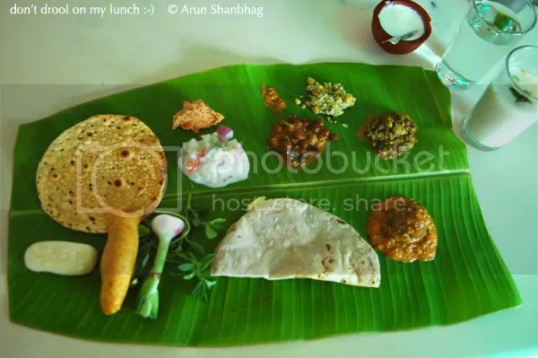 pics from Kamat's Yatri Nivas Bengaluru Lunch on a Banana Leaf