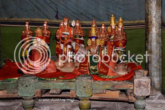 Alvars or Vaishnava saints at the Varadaraja (Vaikuntha) Perumal Kanchipuram by Arun Shanbhag