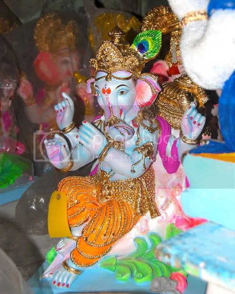 Picture photograph of Ganapati murthy, Ganesh utsav murthy during Ganesh Chaturthi by Arun Shanbhag Sri Nathji