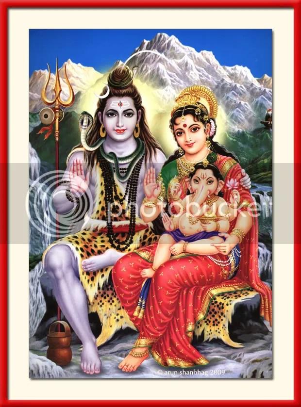 Shiva Parvati Ganapati Shivratri Hindu Gods Arun Shanbhag