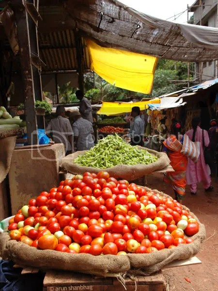 pics of fresh vegetables and fruits market in Kumta by Arun Shanbhag