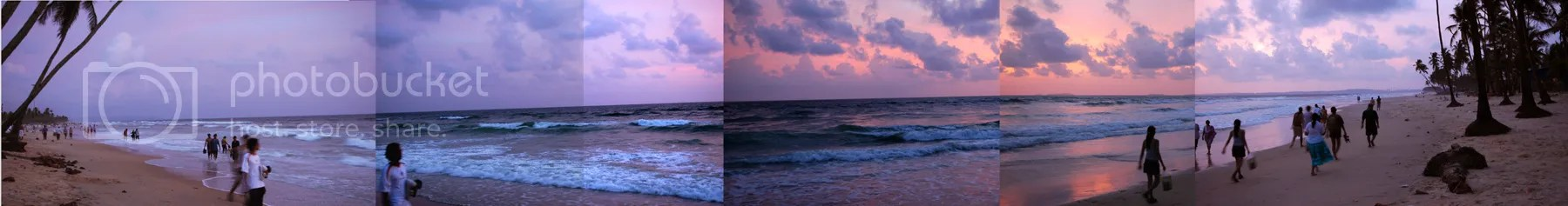 Colva Beach Goa sunset panorama pics by Arun Shanbhag