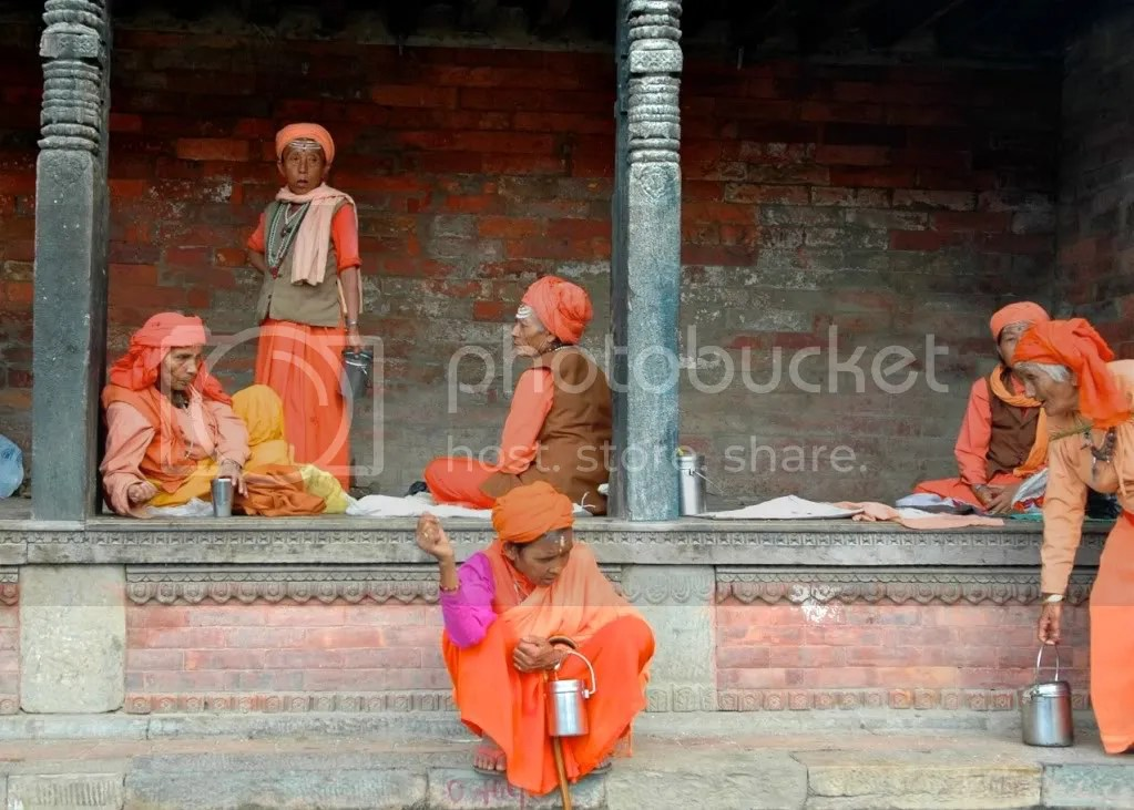 Sanyasinis - female monks at the Pashupatinath Temple, Kathmandu, Nepal, Arun Shanbhag