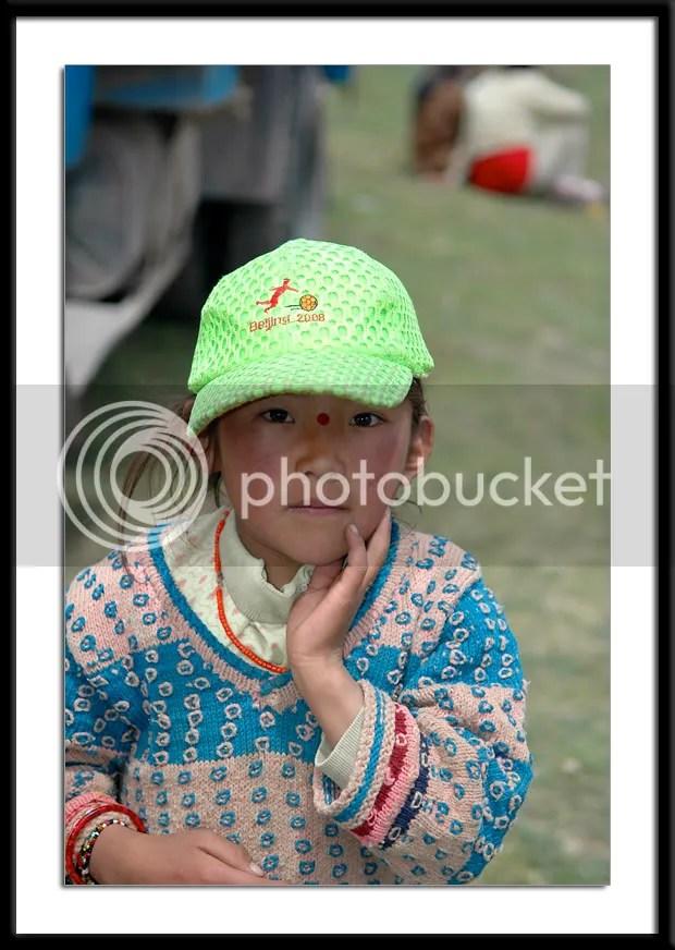 photos of a Tibetan girl by Arun Shanbhag