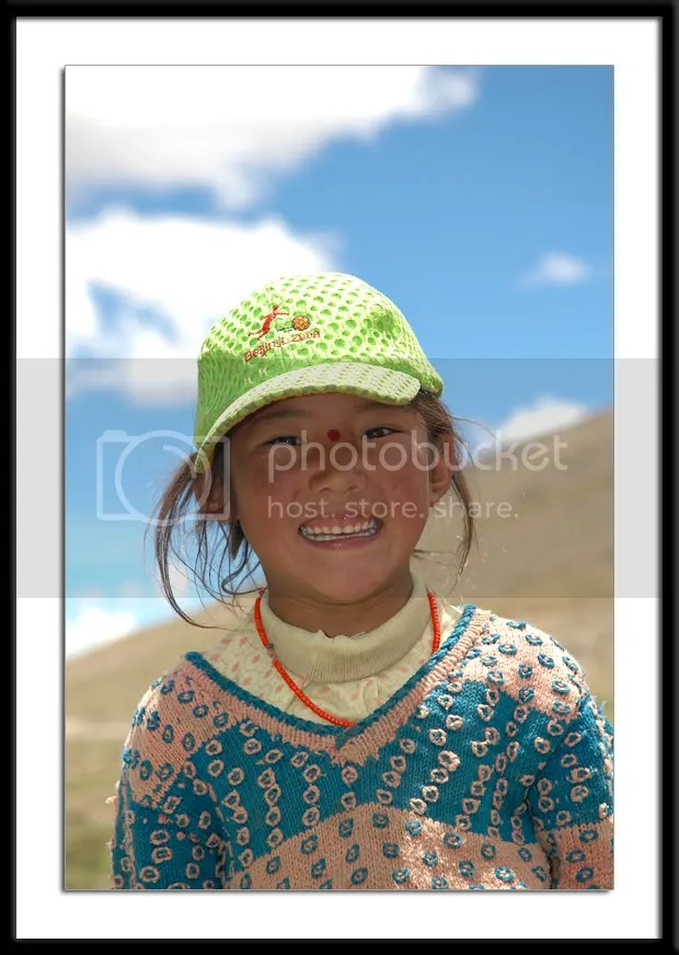 photos of a Tibetan girl by Arun Shanbhag