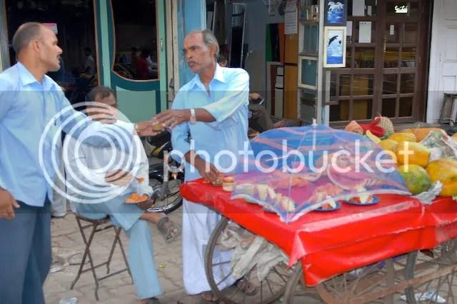 adults sharing chai