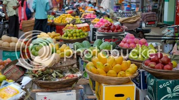 Fresh fruits and vegetables at Colaba Vegetable Market Mumbai pics by Arun Shanbhag