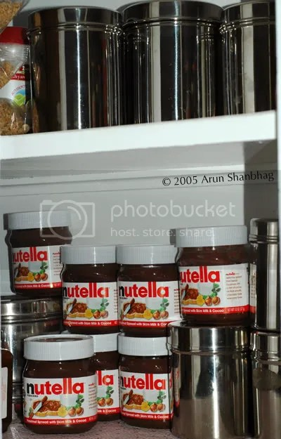 Stock-up Nutella jars by Arun Shanbhag