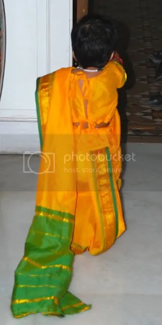 Meera in a saree