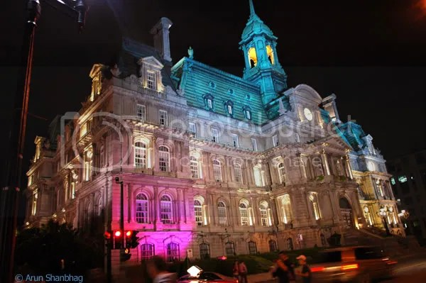Old Montreal City Hall pics by Arun Shanbhag