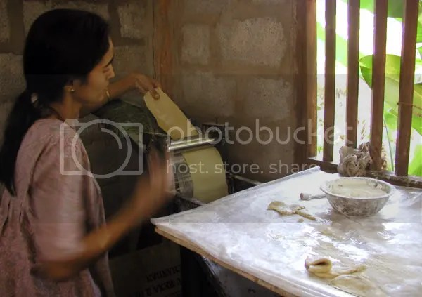 girls making papad in rural Kumta