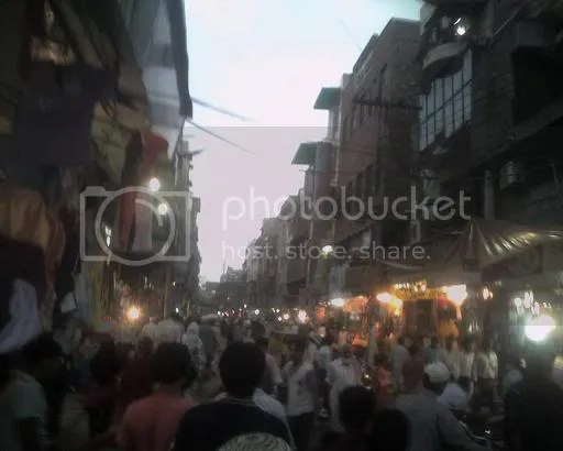 Anarkali Bazar in the evening