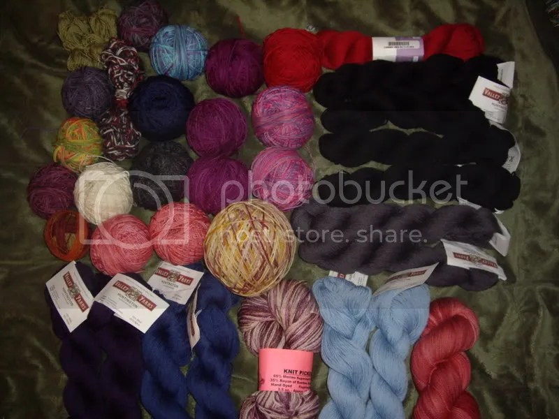 My pretty sock yarn stash