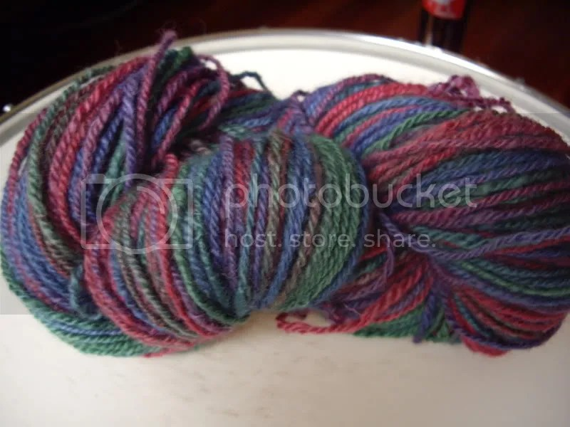 One colorful skein