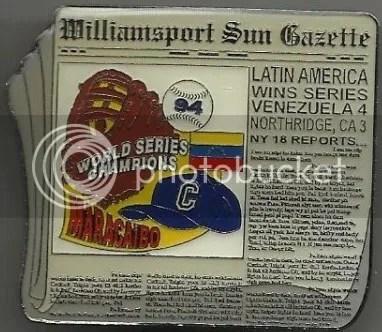 """Pin-Up"" of the Week: 1994 Williamsport Sun Gazette Little League World Series Champions Pin"