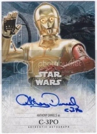 Card of the Day: 2016 Topps Star Wars The Force Awakens Series 2 Anthony Daniels C-3PO Auto