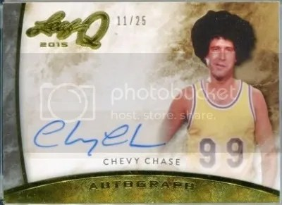 Card of the Day: Chevy Chase 2015 Leaf Q Gold Foil Auto