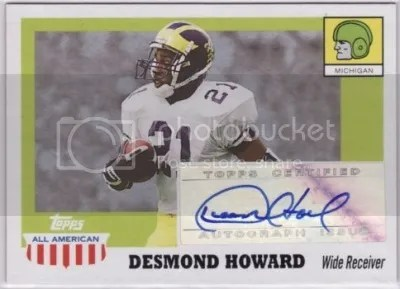 Card of the Day: Desmond Howard 2005 Topps All American Auto